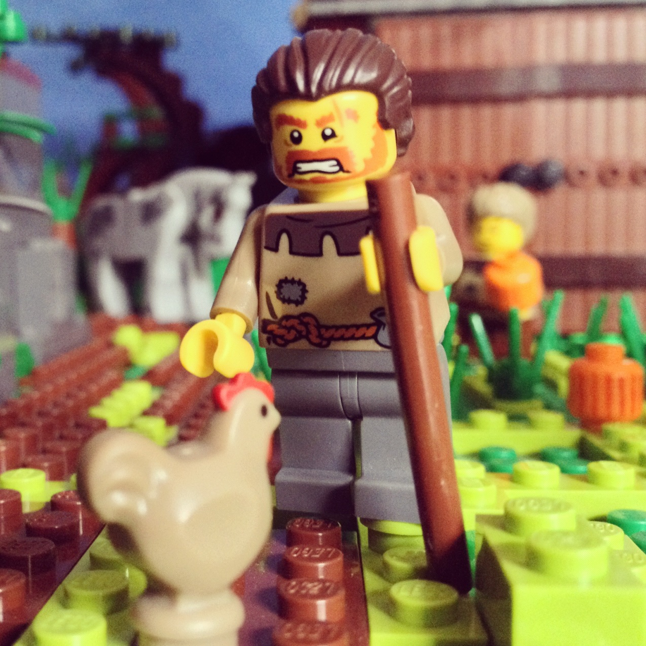 LegoGenre 00177: Farmer Jack & His Pumpkin Farm.
