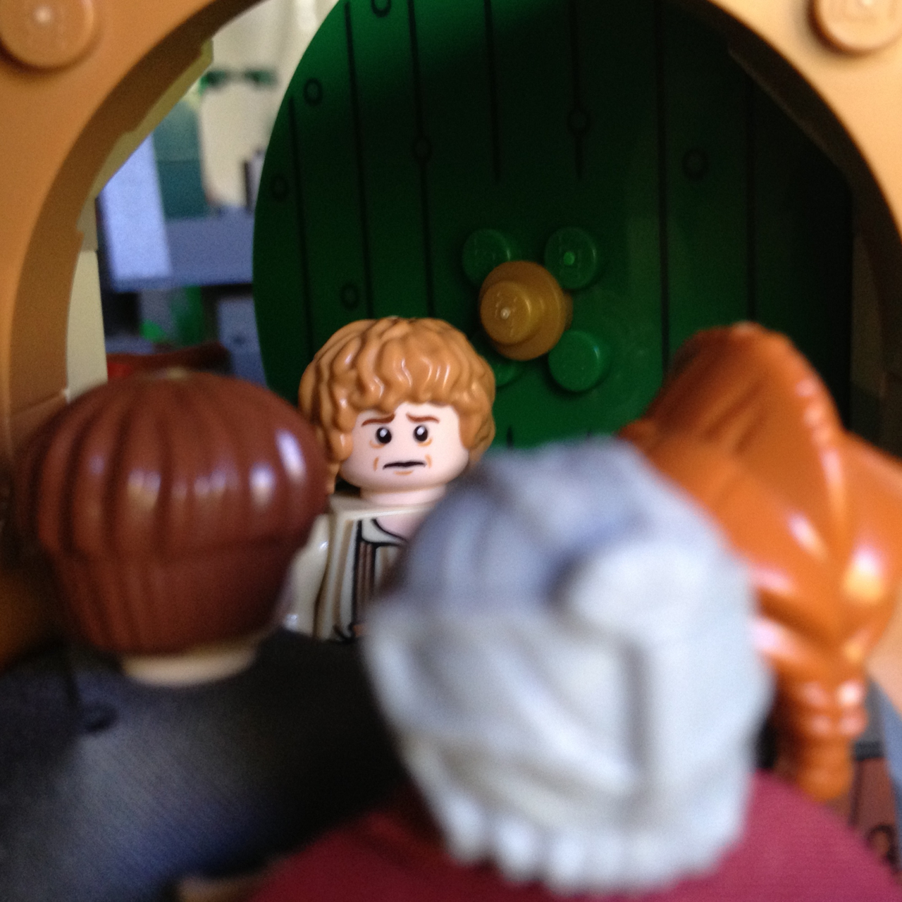 "LegoGenre 00204: ""I am so sorry to keep you waiting!"" he was going to say, when he saw that it was not Gandalf at all."""