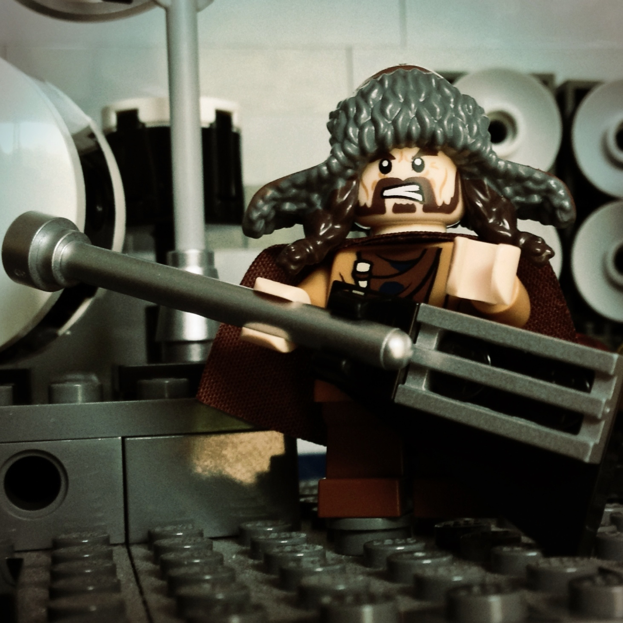 LegoGenre 00209: Bofur Shredding On His Axe.