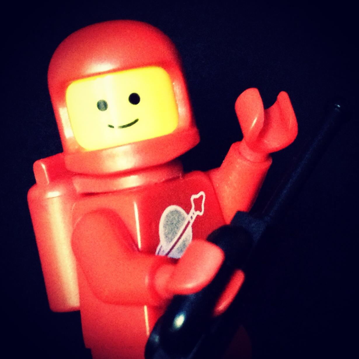 "LegoGenre 00221 ""Hello, This Is Space Man Red"""