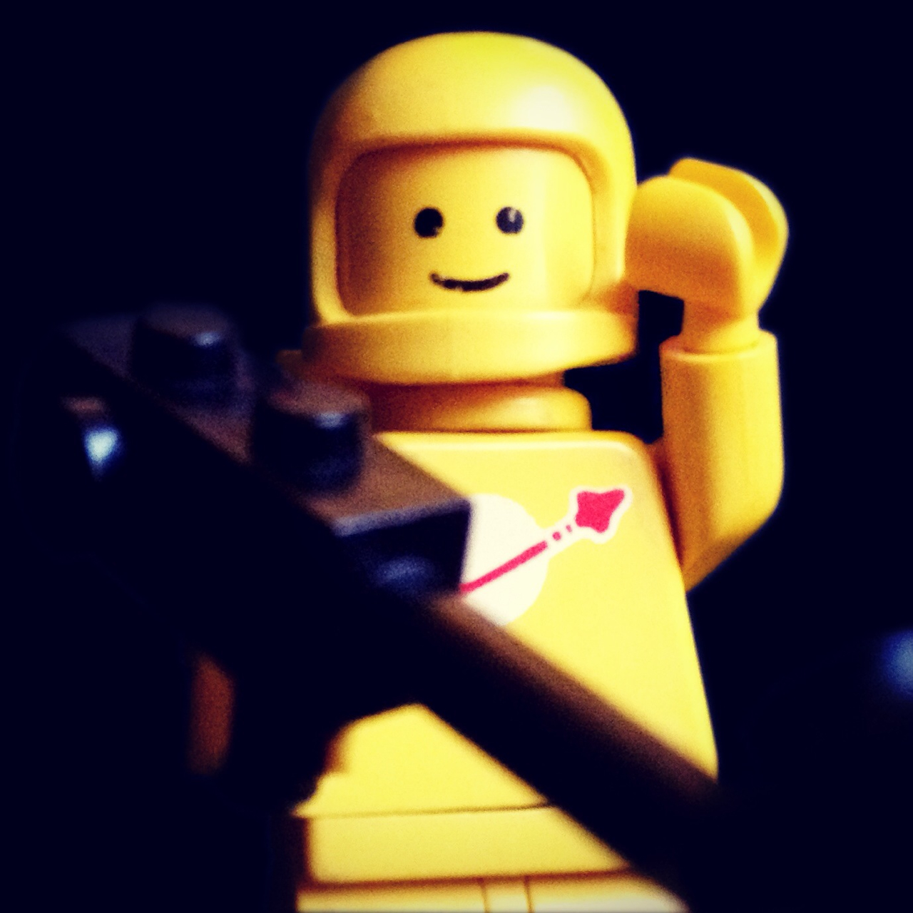 "LegoGenre 00222: ""Space Geologist Yellow, Checking In."""