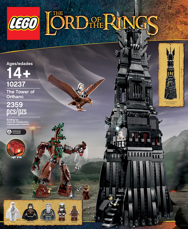 Lego Tower Of Orthanc, from Brickset