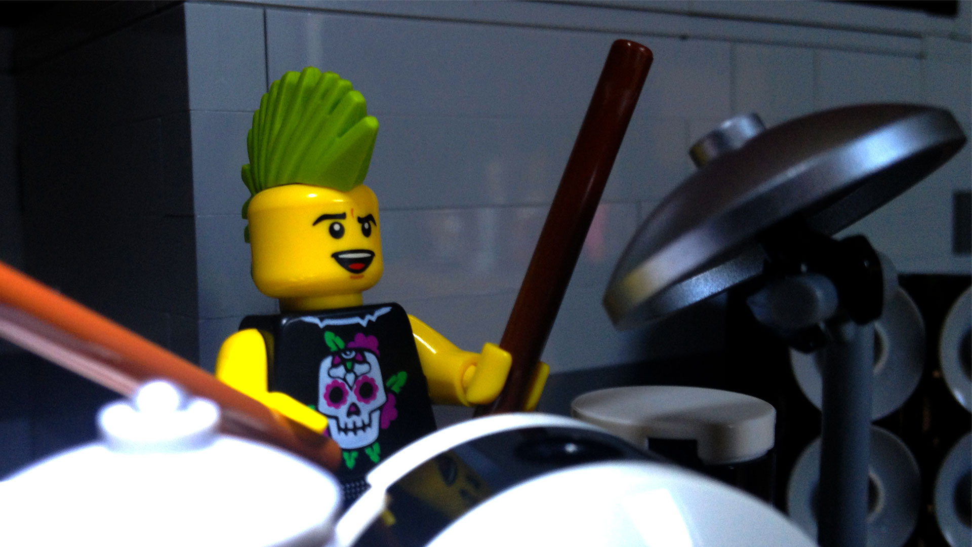 LegoGenre: Drummer Wallpaper