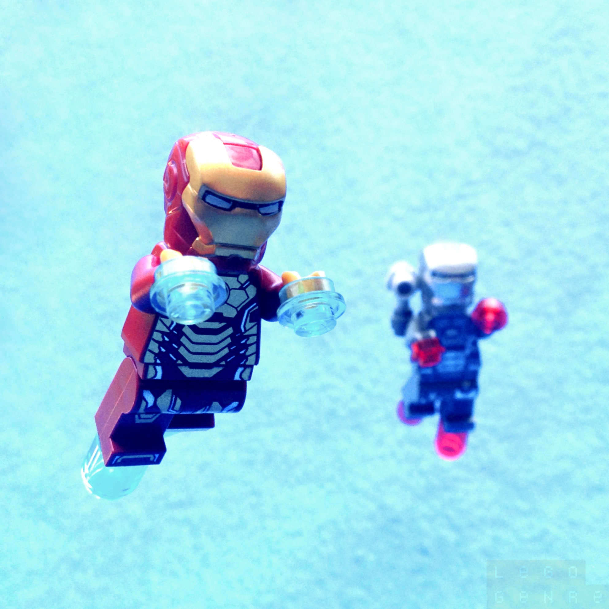 LegoGenre 00249: Iron Man In Flight