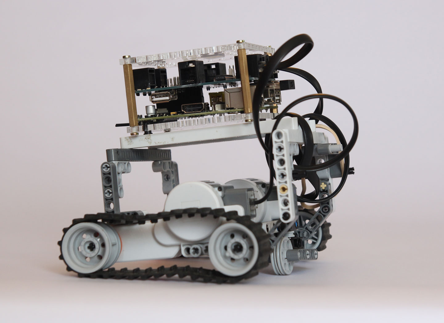 BrickPi: Lego Bricks with a Raspberry Pi Brain: Robot