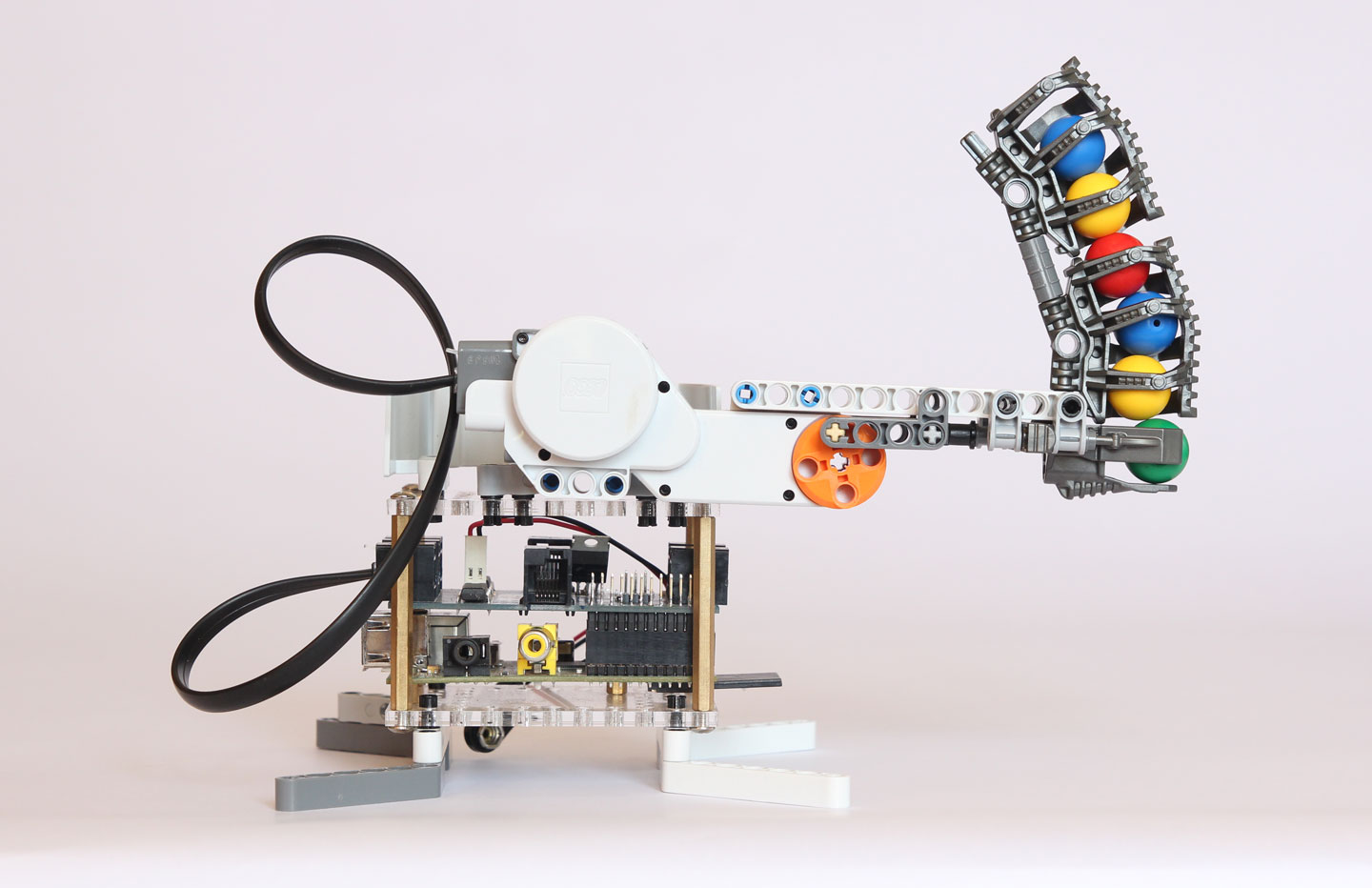 BrickPi: Lego Bricks with a Raspberry Pi Brain: Robot 2