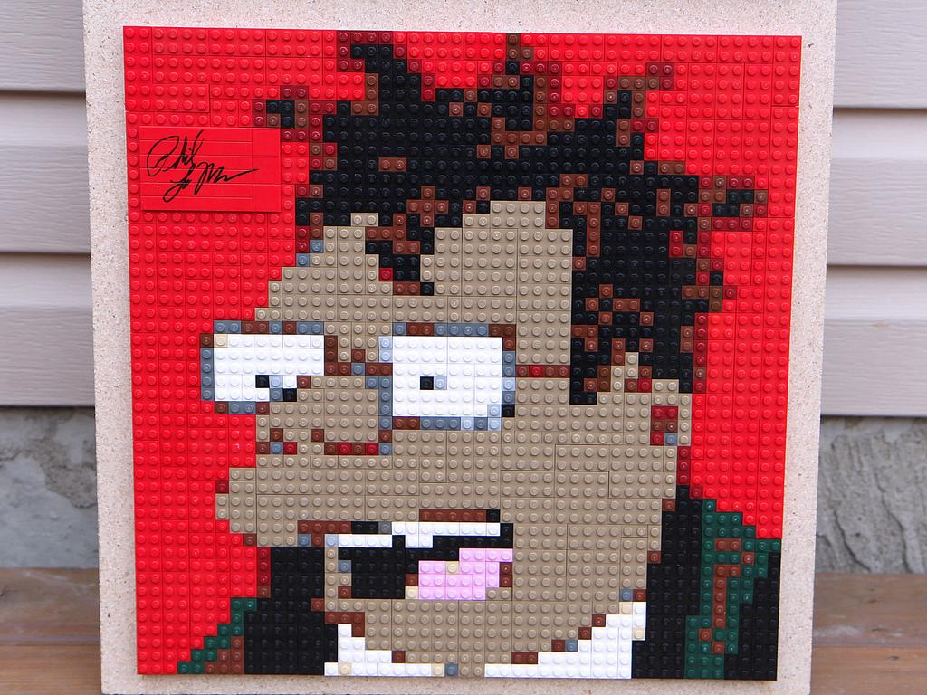 Brickwares: Futurama Lego Mosaic Hermes