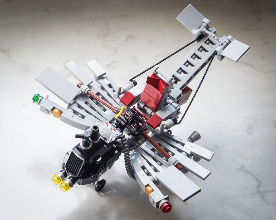 "Galaktek's Löffelschmitt ""Pegasus"" Mk III - Steampunk Flying Machine"