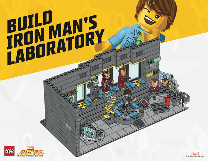 Lego Iron Man's Laboratory / Hall of Armor