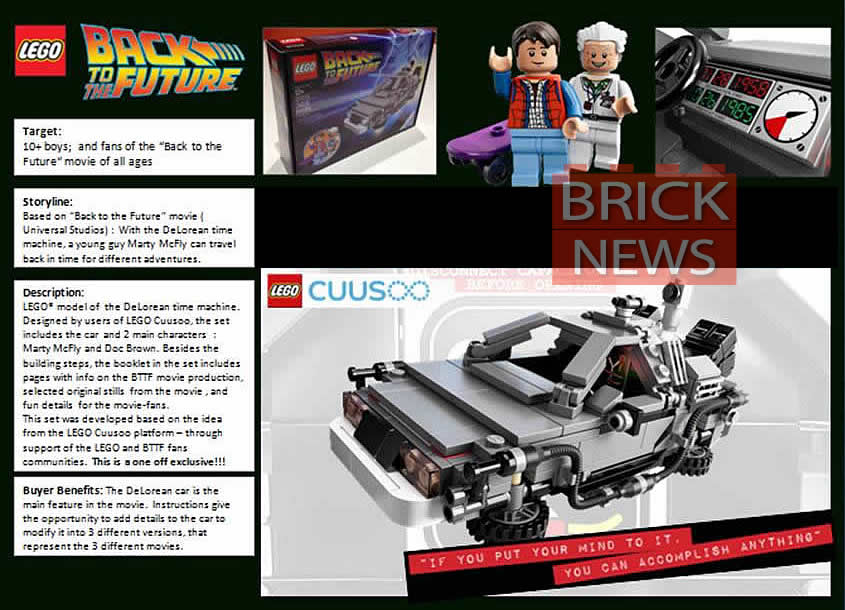 BrickNews Lego Back To The Future: DeLorean Time Machine Details