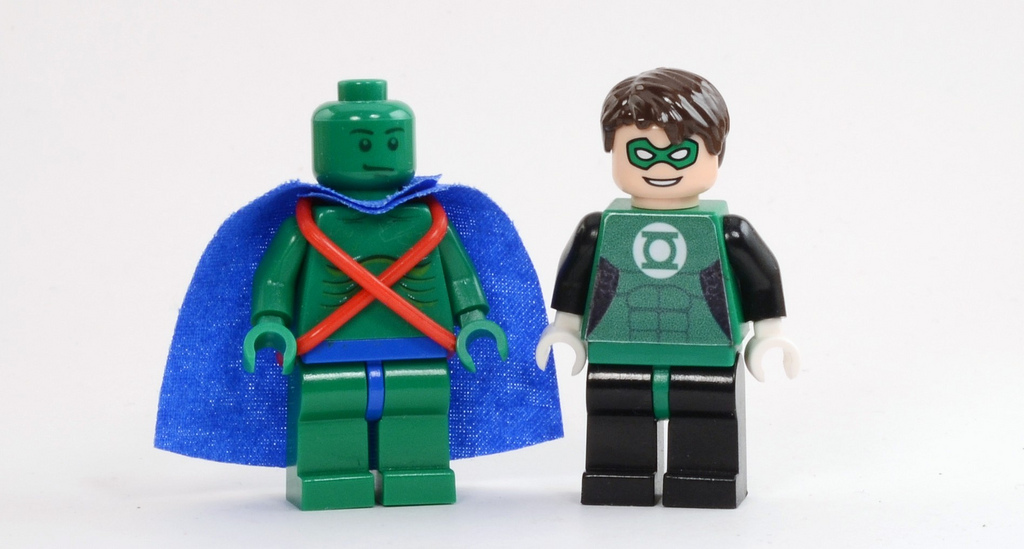 Bryant's Lego Justice League Martian Manhunter & Green Lantern
