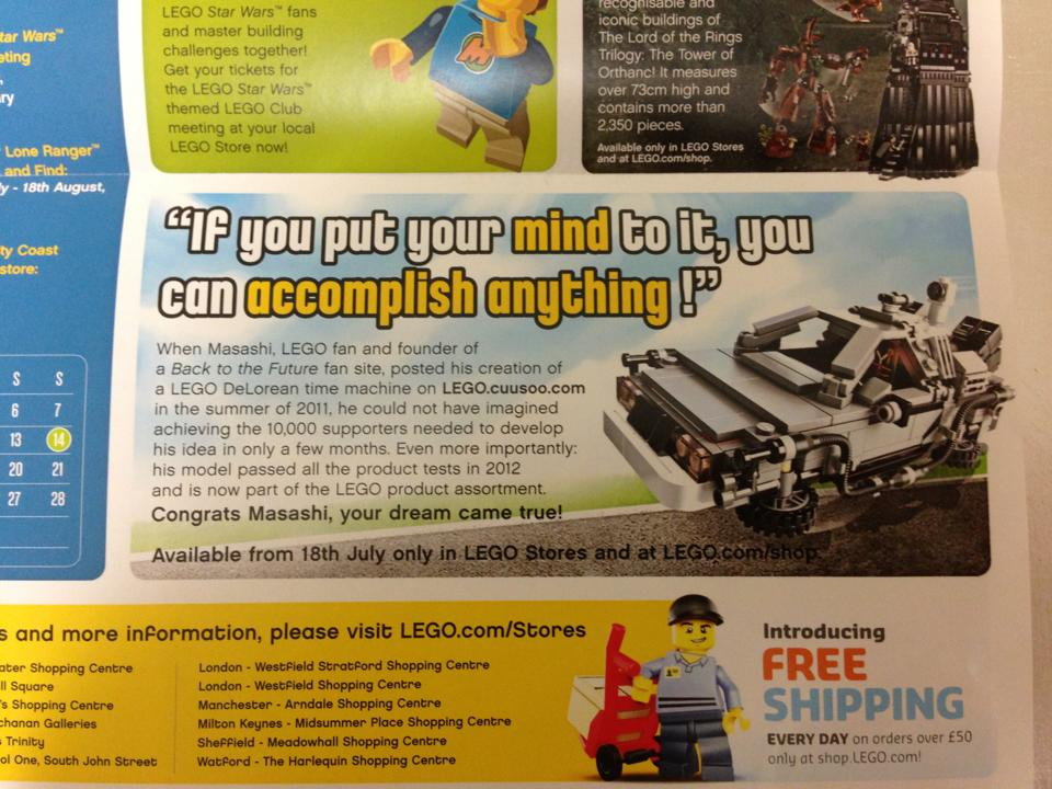 Lego Back to the Future: DeLorean Time Machine Release