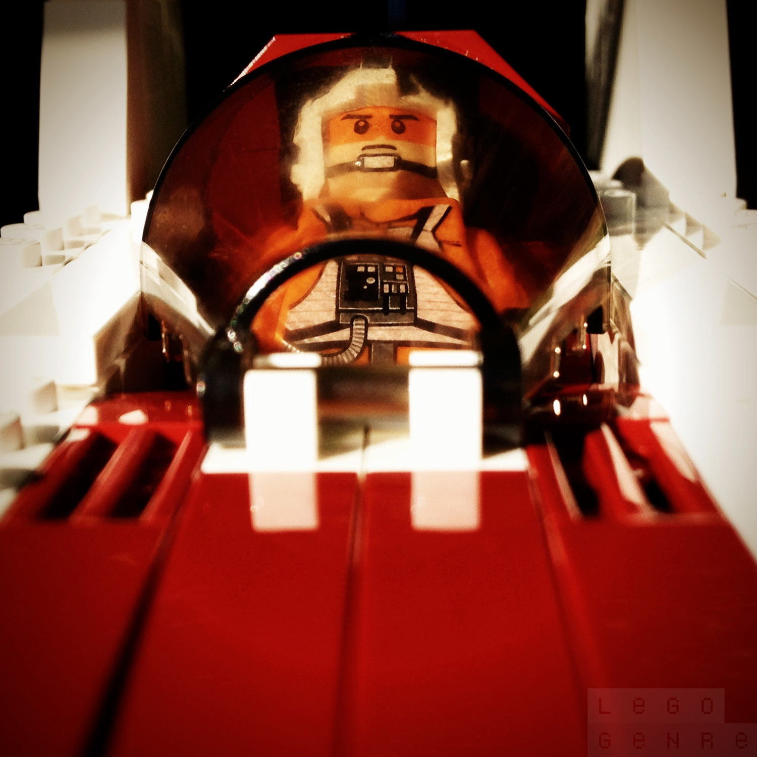 "LegoGenre 00269: ""Any pilot who volunteers to fly an A-wing better be brave or crazy."""