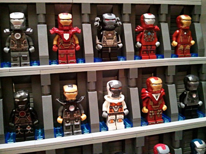 becauseBATMAN's Stark Industries Armory, Iron Man Hall of Armor Detail 1