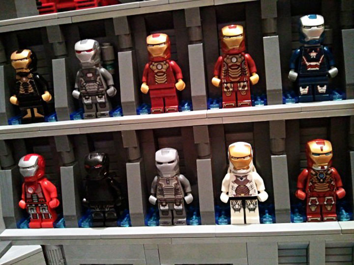 becauseBATMAN's Stark Industries Armory, Iron Man Hall of Armor Detail 2
