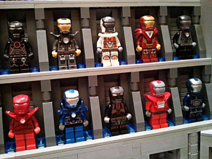 becauseBATMAN's Stark Industries Armory, Iron Man Hall of Armor Detail 3