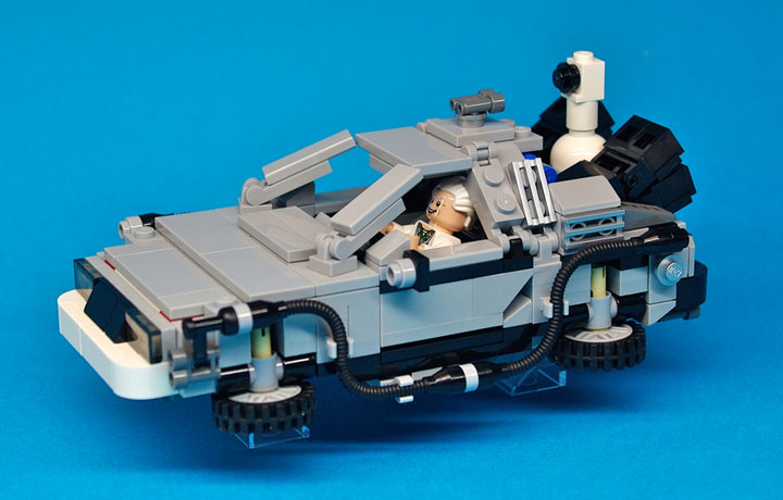 Lego CUUSOO: Lego Back to the Future DeLorean Reviewd by TheBrothersBrick 02
