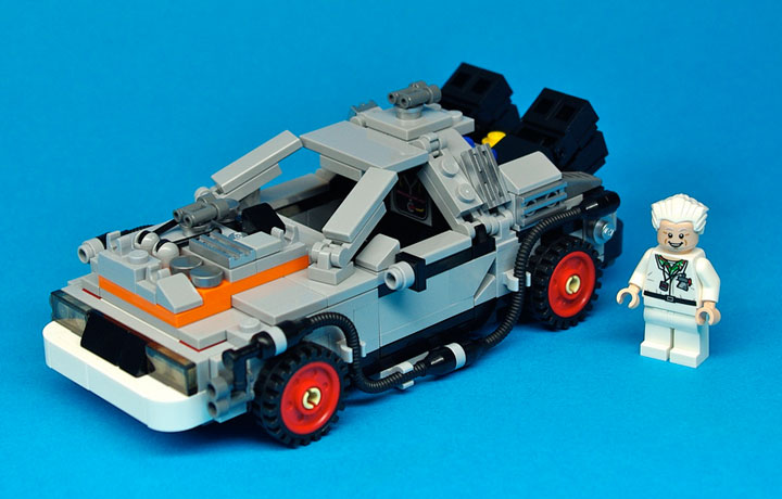 Lego CUUSOO: Lego Back to the Future DeLorean Reviewd by TheBrothersBrick 03