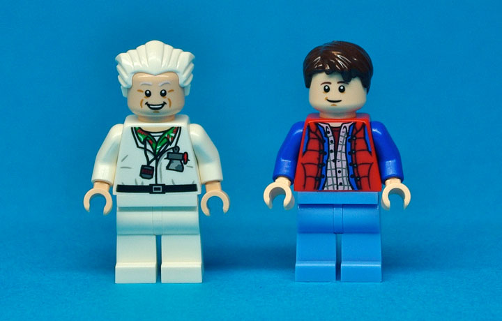 Lego CUUSOO: Lego Back to the Future DeLorean Minifigures Reviewd by TheBrothersBrick