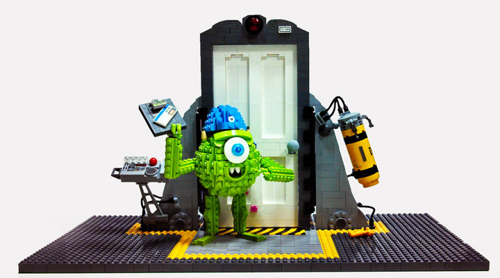 Dave Shaddix's Mike Wazowski & Door, Lego Monsters Inc