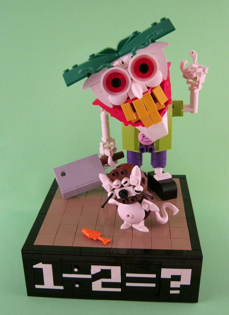 Delatron3000's Lego Kid Joker Solves A Maths Problem