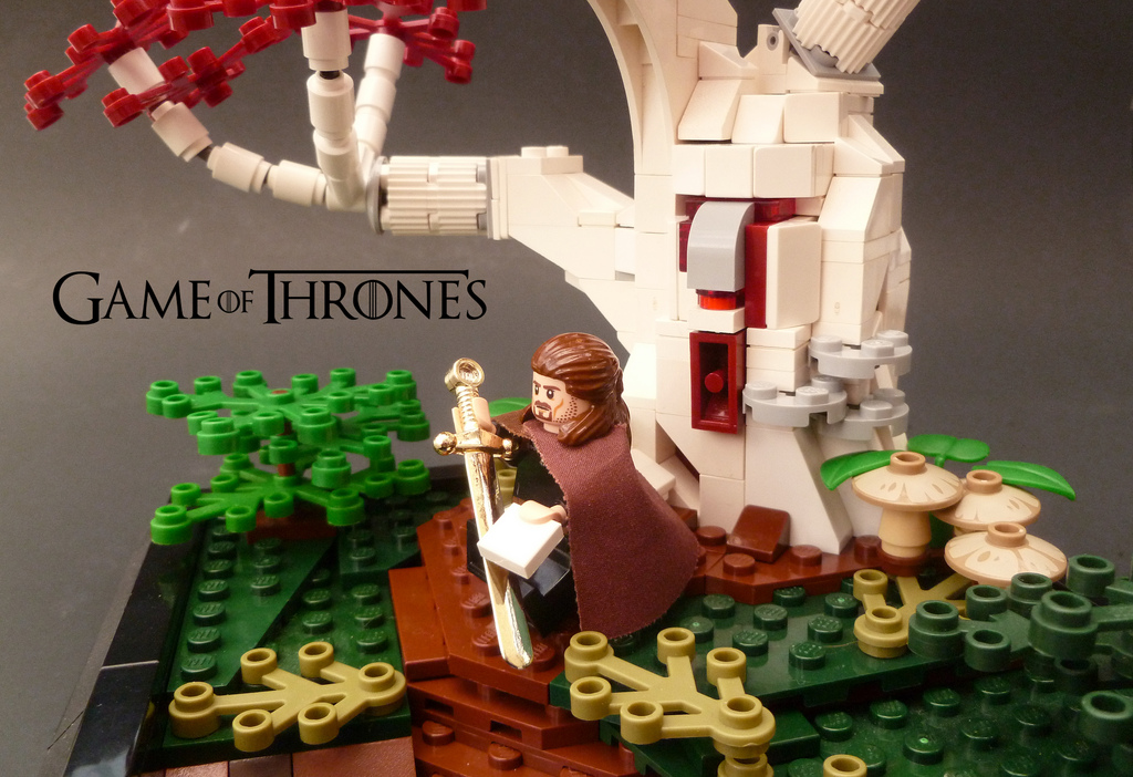 Flailx's Lego Game Of Thrones Godswood Wierwood Tree, Ice