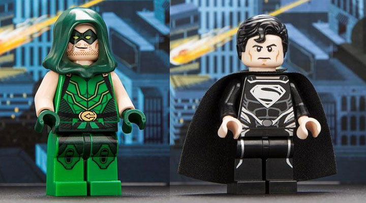 Comic Con Exclusive Lego Minifigures 2013, Green Arrow, Superman