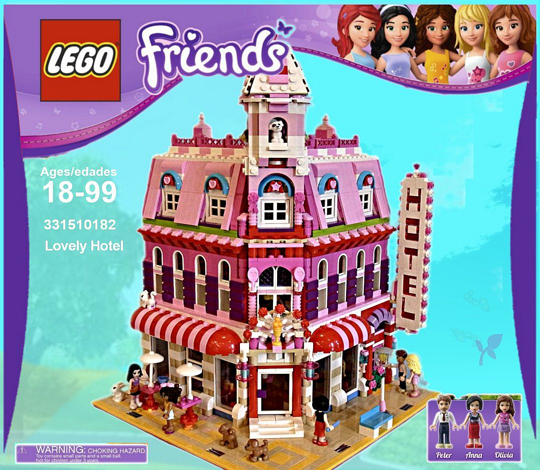 Lego Friends Christmas Sets.Lego Friends Lovely Hotel A Wonderful Cafe Corner 10182 Mod