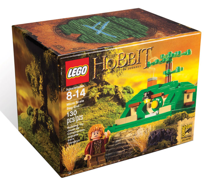 SDCC LOTR Micro Scale Bag End Lego Exclusives