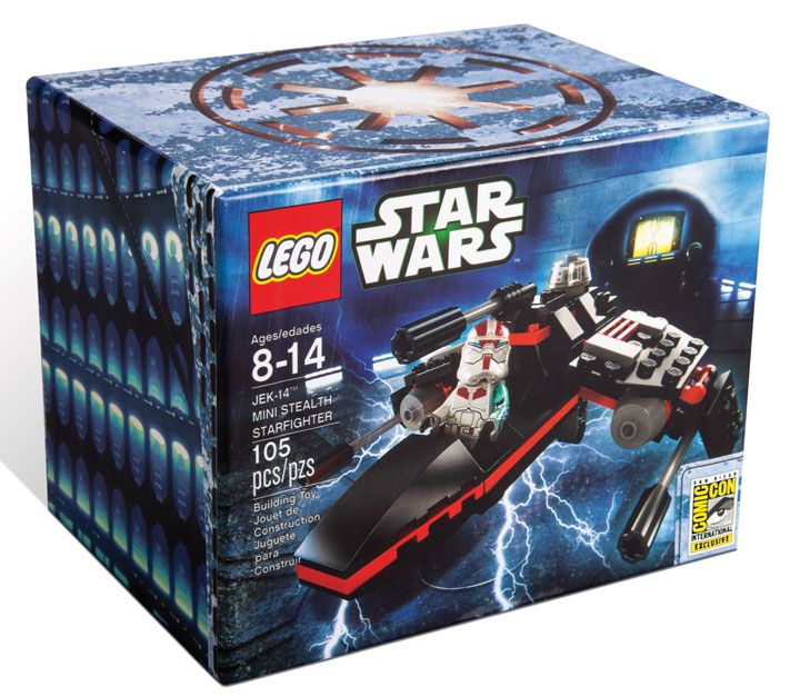 SDCC Lego Star Wars: Mini Jek-14 Stealth Starfighter Lego Exclusives