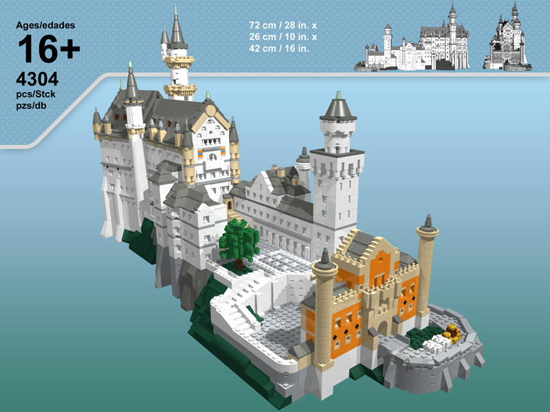 T-Brick's Lego Neuschwanstein Castle Box