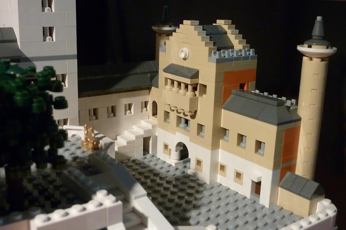 T-Brick's Lego Neuschwanstein Castle Detail