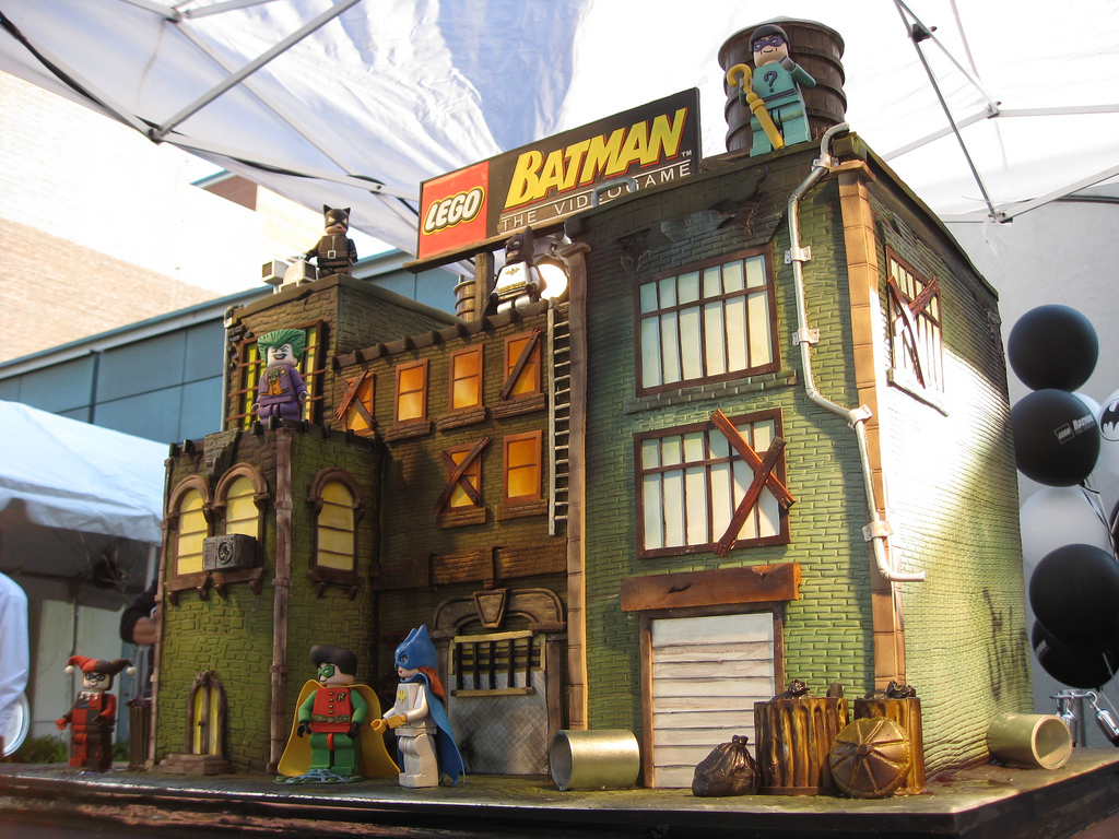 Elisa Strauss's Lego Batman Video Game Lego Cake, Photo by William Eng