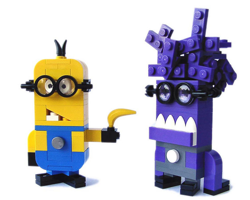 derjoe's Lego Despicable Me 2 Minions: Dark Purple