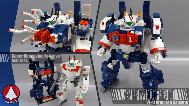 maxvf1's Lego Cuusoo: Lego Macross VF-1 Valkyrie + Fast Pack + Armored