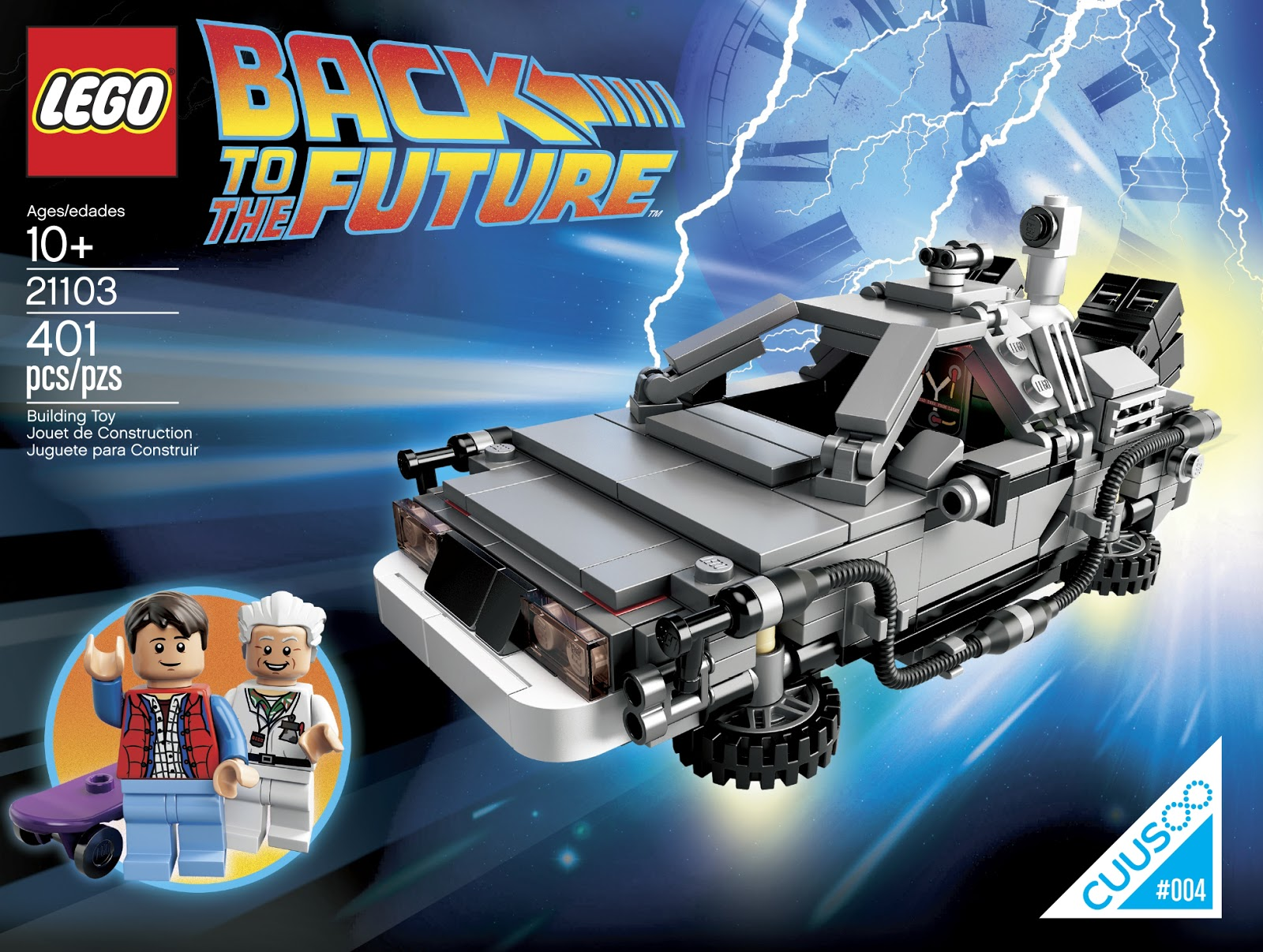 Back To The Future DeLorean Lego CUUSOO Box
