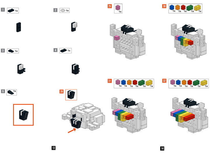 Brickstorms's Guild Wars 2 Lego Infantile Cloud Instructions