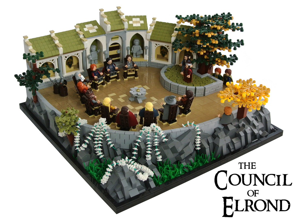 Disco86's The Lord Of The Rings, The Council Of Elrond in Lego 01