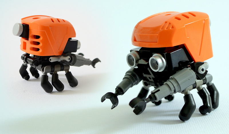 Look At These Tiny Lego Robots