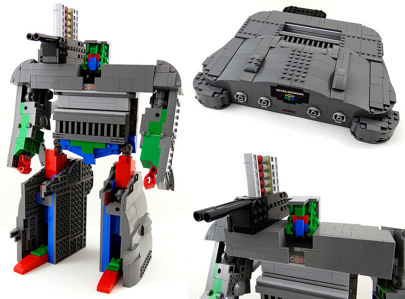 how to build rainbow cannon lego dimensions