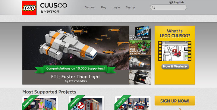 Lego CUUSOO Website