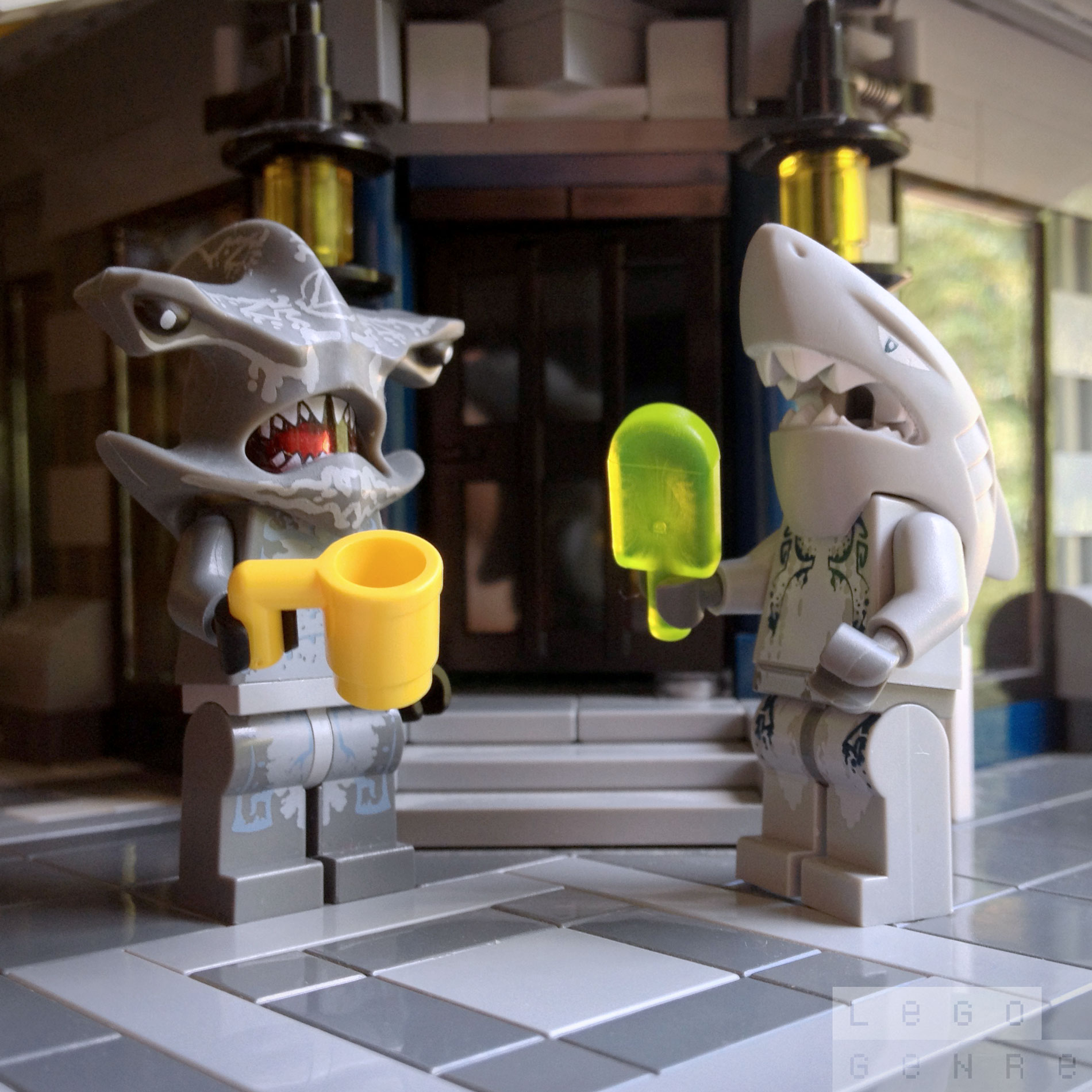 LegoGenre 00292: Shark Week Coffee Break