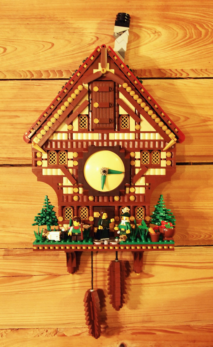 A Lego Cabin Cuckoo Clock, with Video