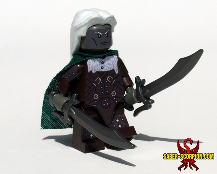 SaberScorpion's Baldur's Gate 2 Drizzt Do'Urden Minifigure