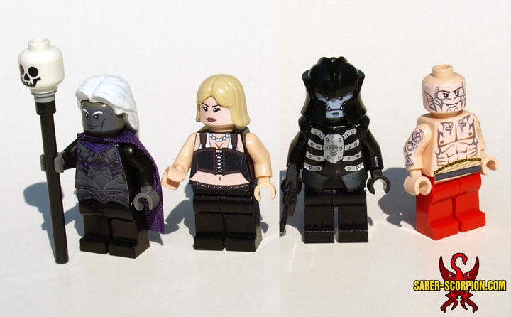 SaberScorpion's Baldurs Gate Enhanced Minifigure Characters
