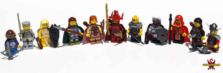 SaberScorpion's Baldur's Gate 2 Minifigure Heroes