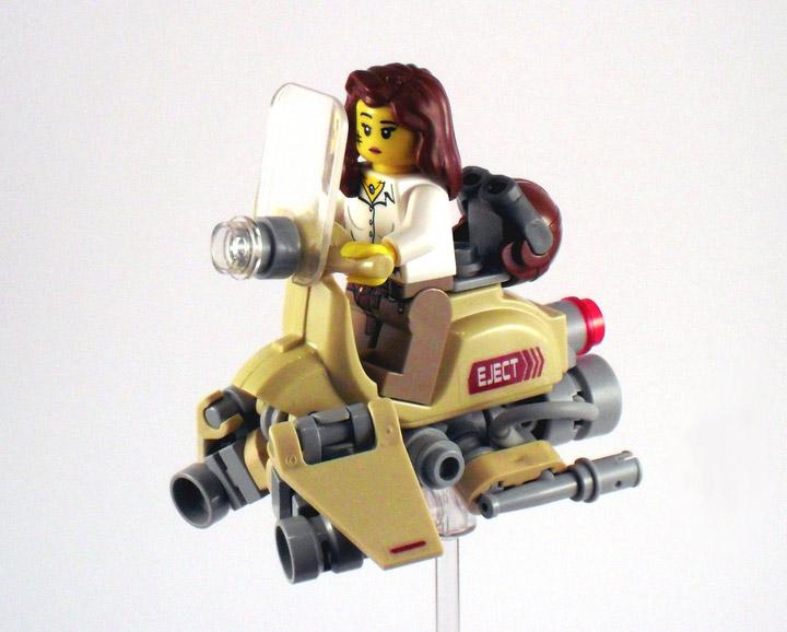 Silvain's Lego Valor Hover Bike Inspired By Radio Kootwijk