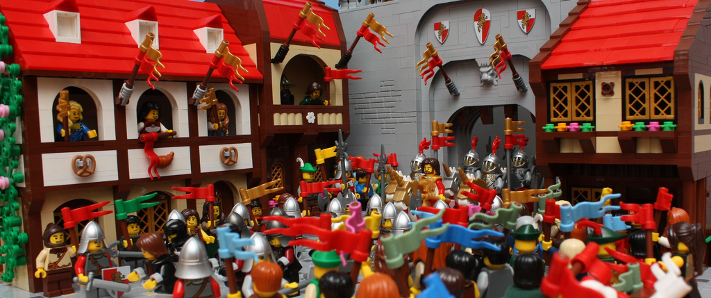 A Lego Castle Moc Welcoming The King