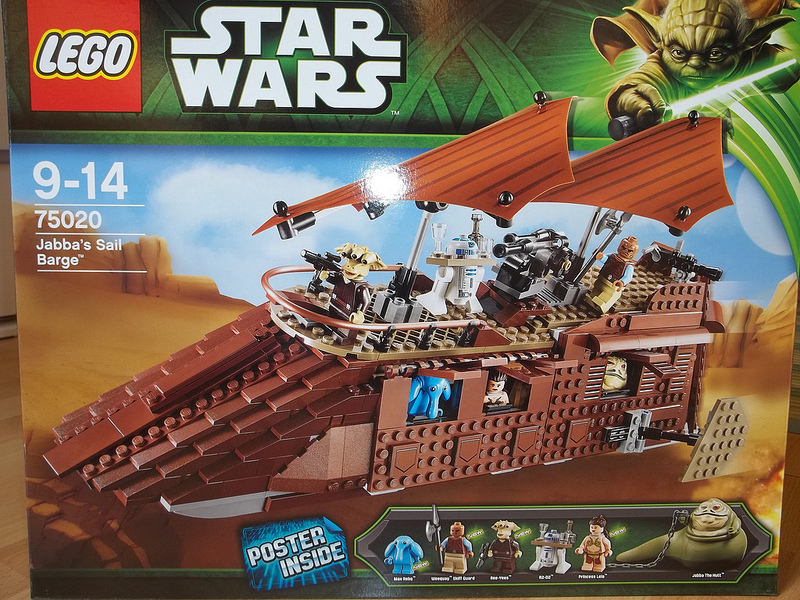 Lego Star Wars R2-D2 minifigure,droid from Jabbas sail barge