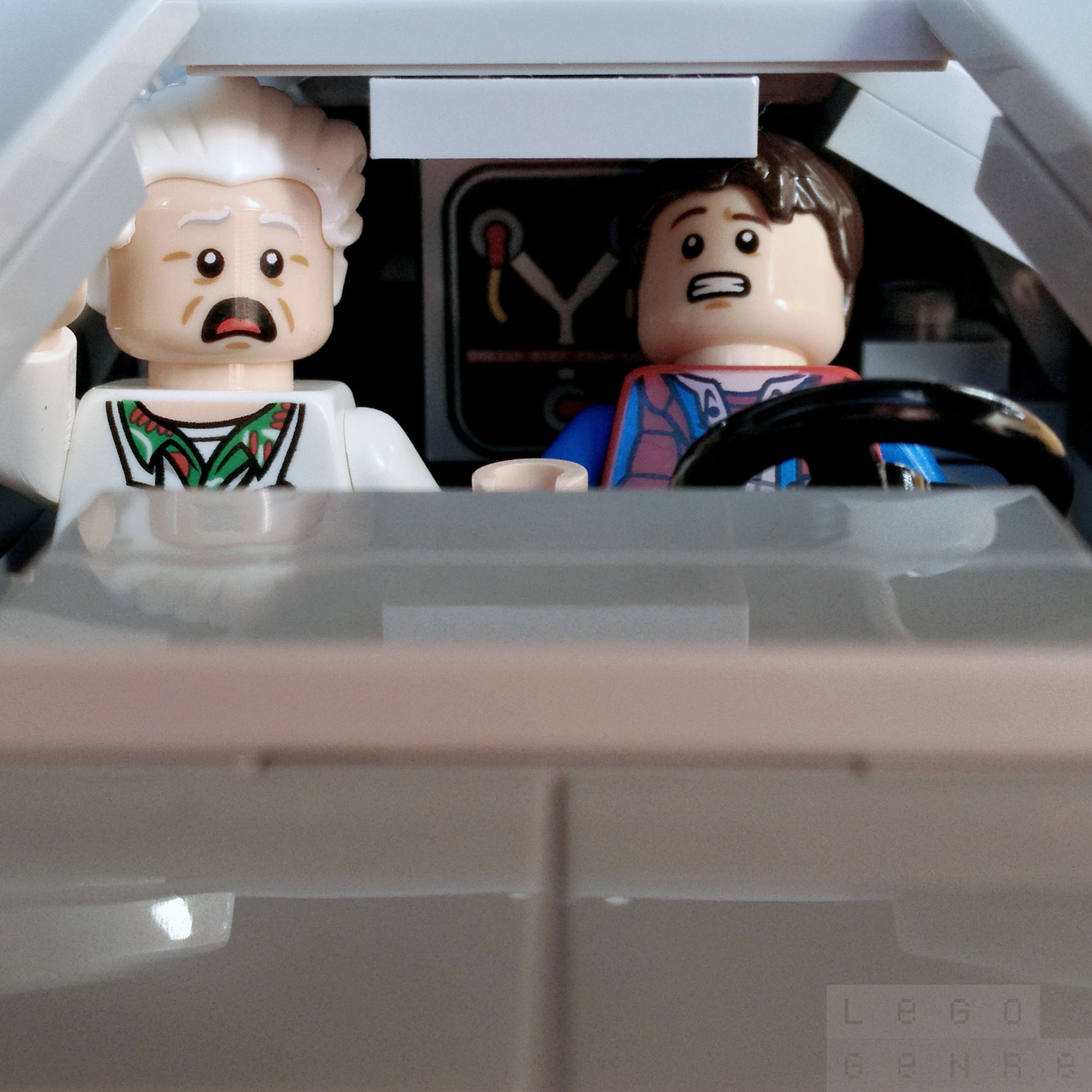 "LegoGenre 00304 : ""If my calculations are correct, when this baby hits 88 miles per hour…"""